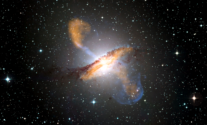 Colour composite image of Centaurus A